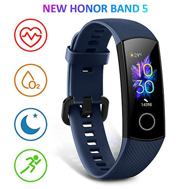 HONOR Band 5 Activity Tracker, Uomo Donna Smartwatch Orologio Fitness Cardiofrequenzimetro da Polso Impermeabile Smart Watch 0.95 Pollice Schermo a Colori,Blu - NUTRITION STORE ROMA