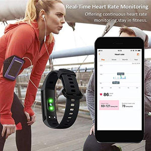 HONOR Band 5 Activity Tracker, Uomo Donna Smartwatch Orologio Fitness Cardiofrequenzimetro da Polso Impermeabile Smart Watch 0.95 Pollice Schermo a Colori,Nero - NUTRITION STORE ROMA