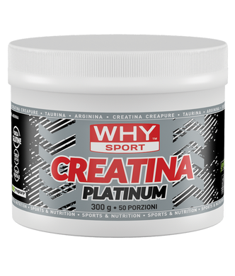CREATINA PLATINUM 300 g WHY SPORT - NUTRITION STORE ROMA