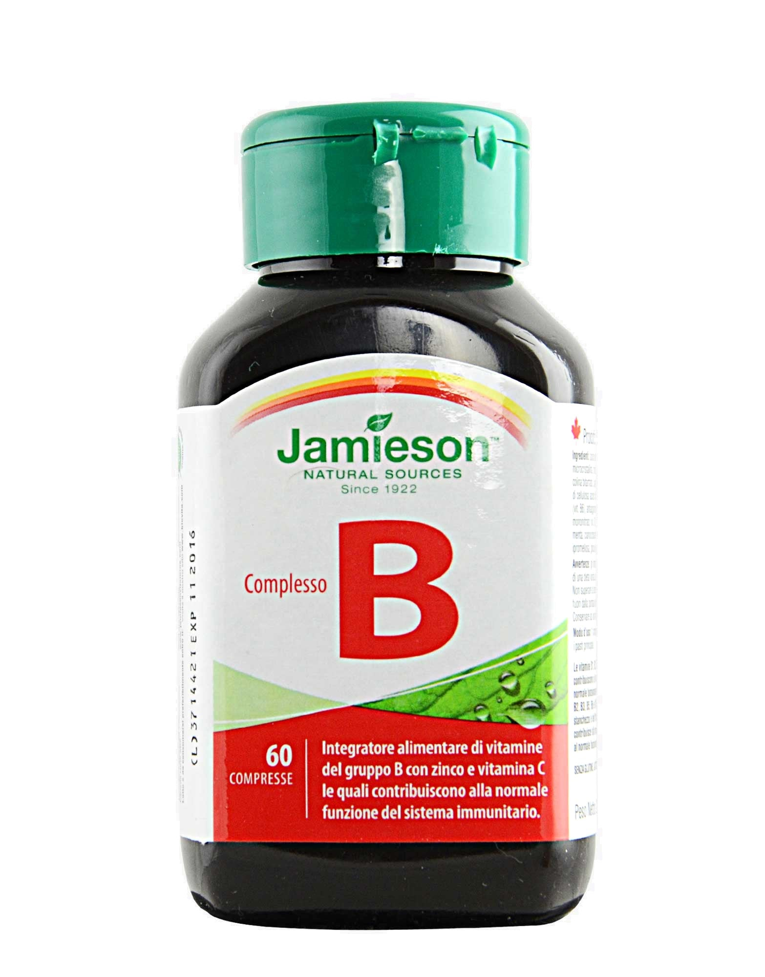 COMPLESSO VIT B 60 cpr JAMIESON - NUTRITION STORE ROMA