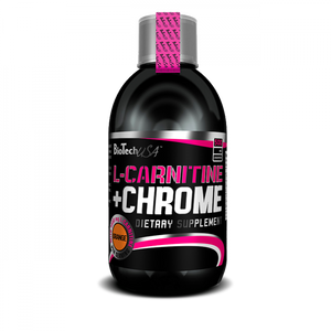 L-CARNITINE + CHROME 500ml BIOTECHUSA - NUTRITION STORE ROMA