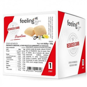 FEELING OK BISCOTTONE START 1  6pz X 25 g - NUTRITION STORE ROMA