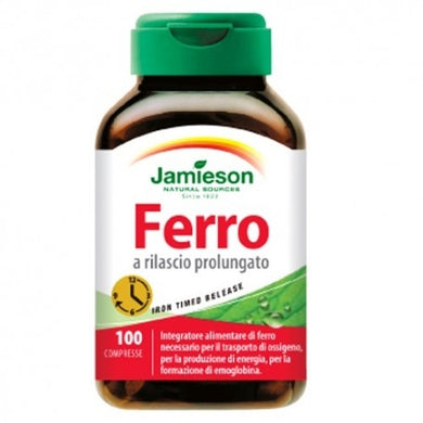 FERRO TIMED RELEASE 100 cpr JAMIESON - NUTRITION STORE ROMA