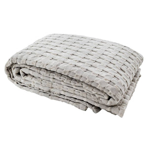 Waffle Powder Grey Throw