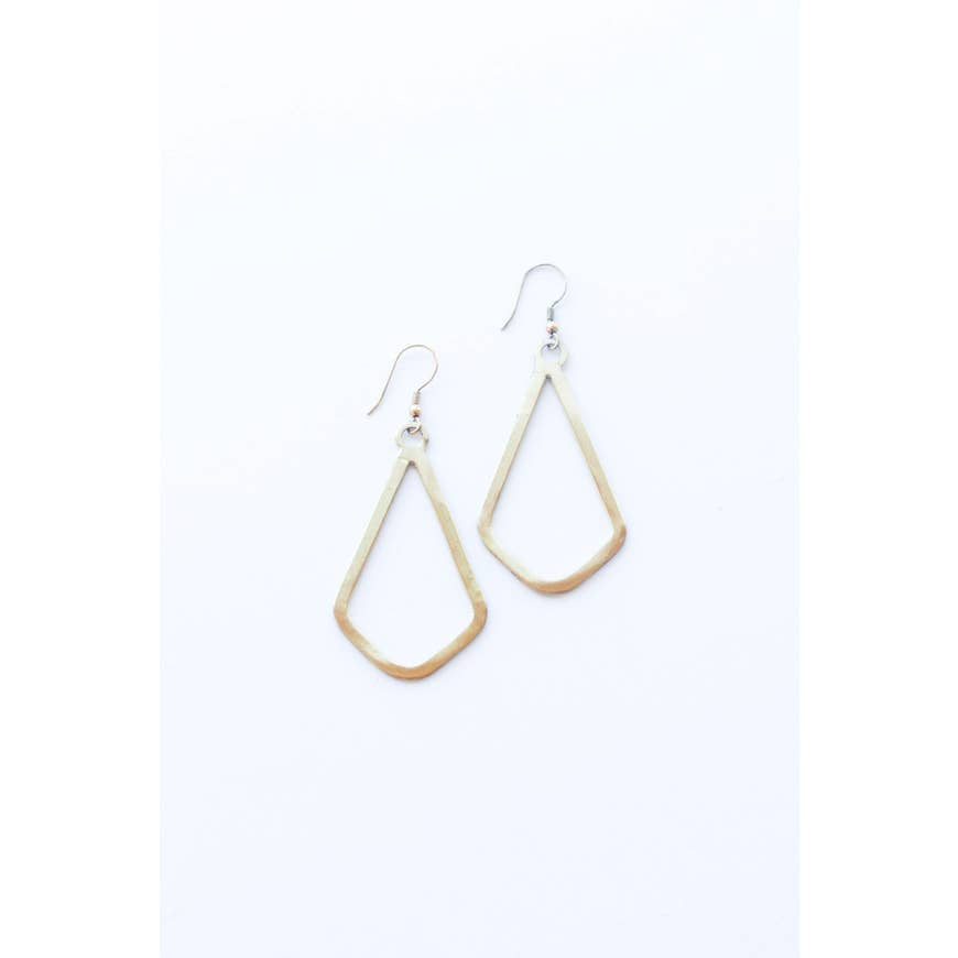 Simple Shapes Earrings - Gold