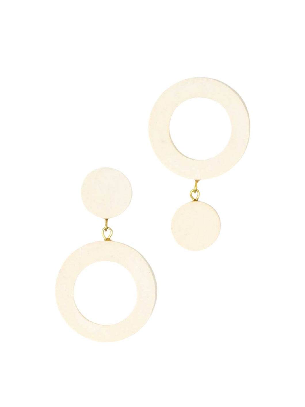 Double Reverse Circles Earrings