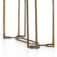 Load image into Gallery viewer, NAOMI MARBLE CONSOLE TABLE-RAW BRASS