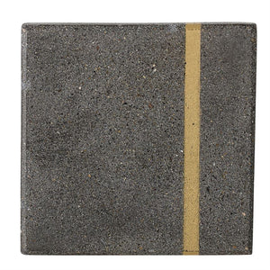 Cement Coasters w/ Gold Finish Inlay