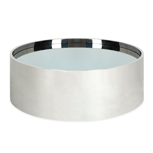 Alphaville Cocktail Table - Polished Stainless Steel