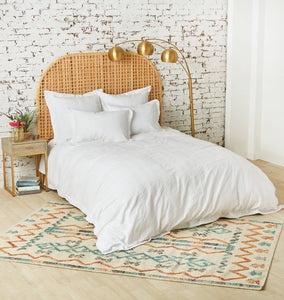 Keller White Queen Duvet Cover