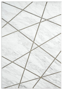Abani Luna LUN150A Contemporary Marble Gold Lines Area Rug
