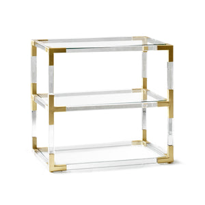 Jacques Two-Tier Table - Brass