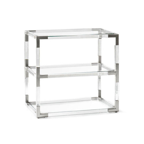 Jacques Two-Tier Table - Nickel