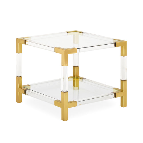 Jacques Two-Tier Accent Table - Brass