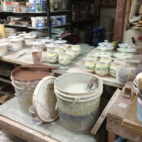 small pottery studio production