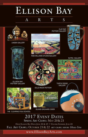 invitation to art crawl in ellison bay wi