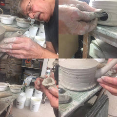 images of potter making a teapot