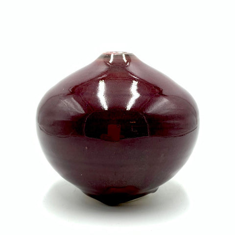 Handthrown Pottery Bud Vase: Door County Reds