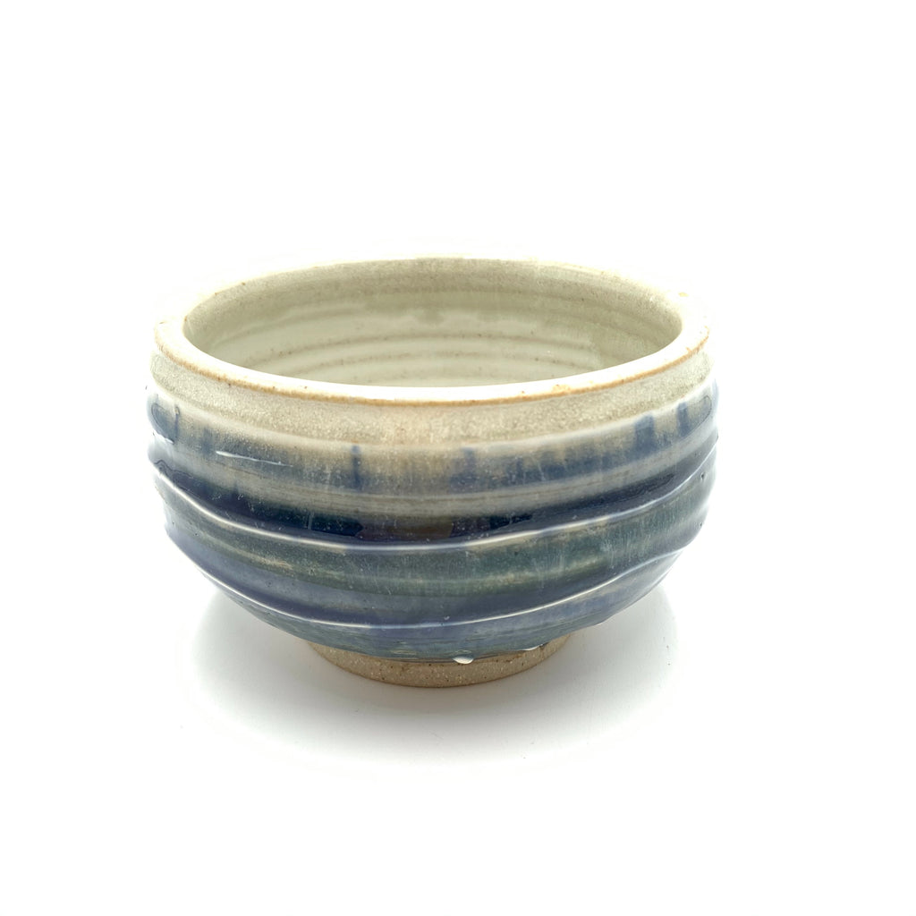 Handmade Pottery Cereal Bowl: Door County Water