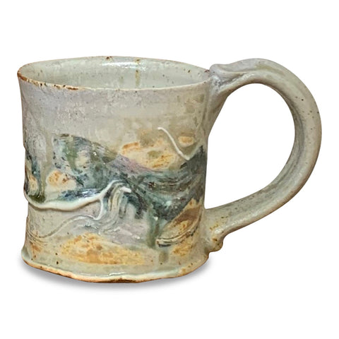 Handmade Pottery Mug (S) - Door County Arbor Vitae Green