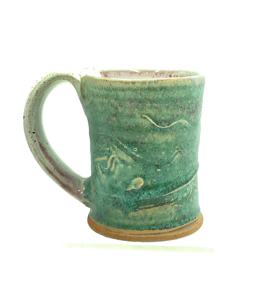 Handmade Pottery Mug (S): Door County Spring Green