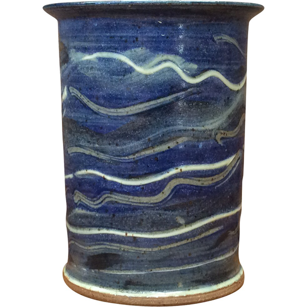 Handmade Pottery Sky Blue Medium Crock