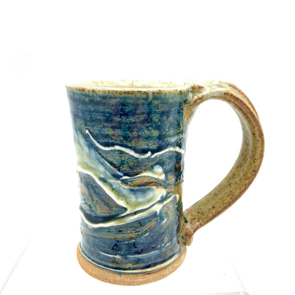 Handmade Pottery Mug - Lake Superior Blue