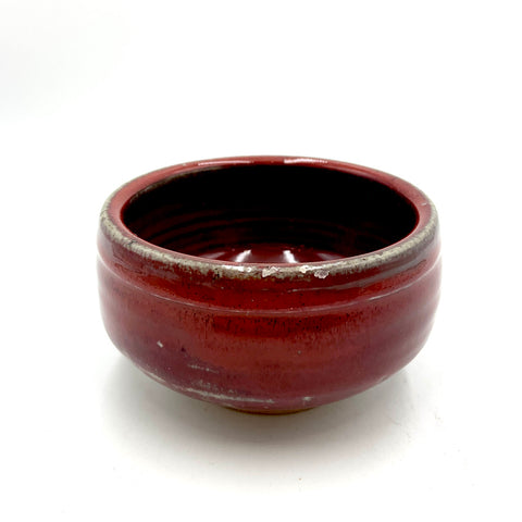 Handmade Pottery Cereal Bowl -Door County Barn Red