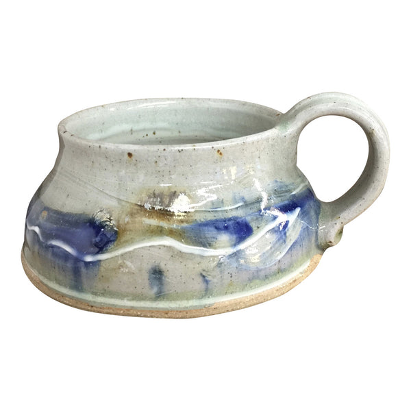 Handmade Pottery Soup Mug - Door County Blue