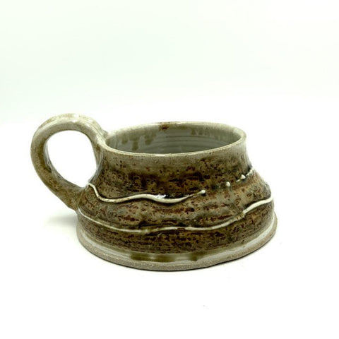 Handmade Pottery Soup Mug - Red Pine