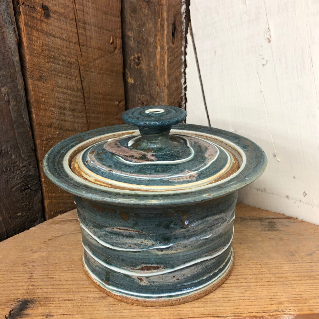 Handmade Pottery Baking Dish (S): Door County Spruce Green