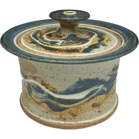 Handmade Pottery Small Baking Dish - Door County Autumn Blue