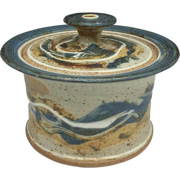 Handmade Pottery Baking Dish (S): Door County Autumn Blue