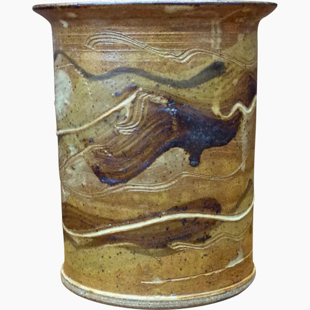 Handthrown Pottery Crock (M): Niagara Cliffs