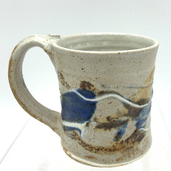 Handmade Pottery Mug (S) : Door County Autumn Blue