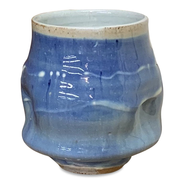 Handthrown Pottery Tea Bowl: Door County Water Blue