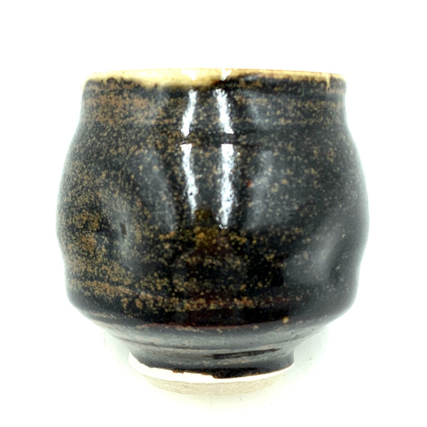Handthrown Pottery Tea Bowl: Door County Shige