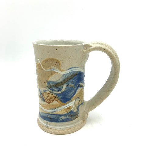 Handmade Pottery Mug - Door County Autumn Blue