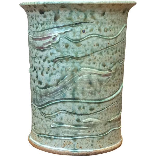Handthrown Pottery Crock (M): Green River