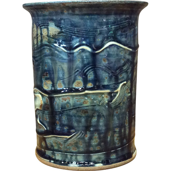 Handthrown Pottery Crock (M): Lake Superior Blue
