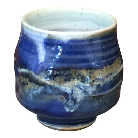 Handthrown Pottery Tea Bowl: Door County Sky