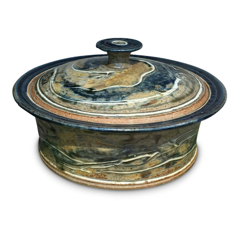 Casserole (L) 'Lake Michigan' - Ellison Bay Pottery Studios