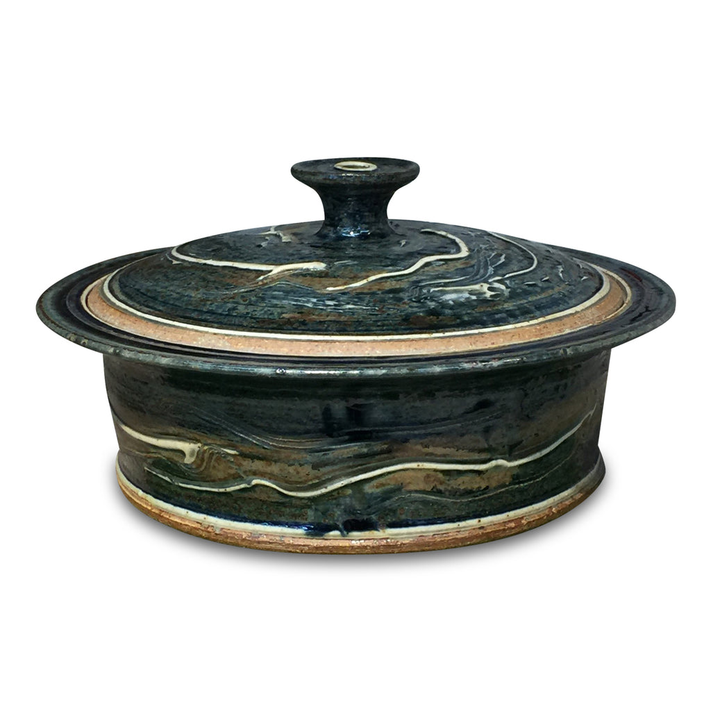 Casserole (L) 'Lake Superior' - Ellison Bay Pottery Studios