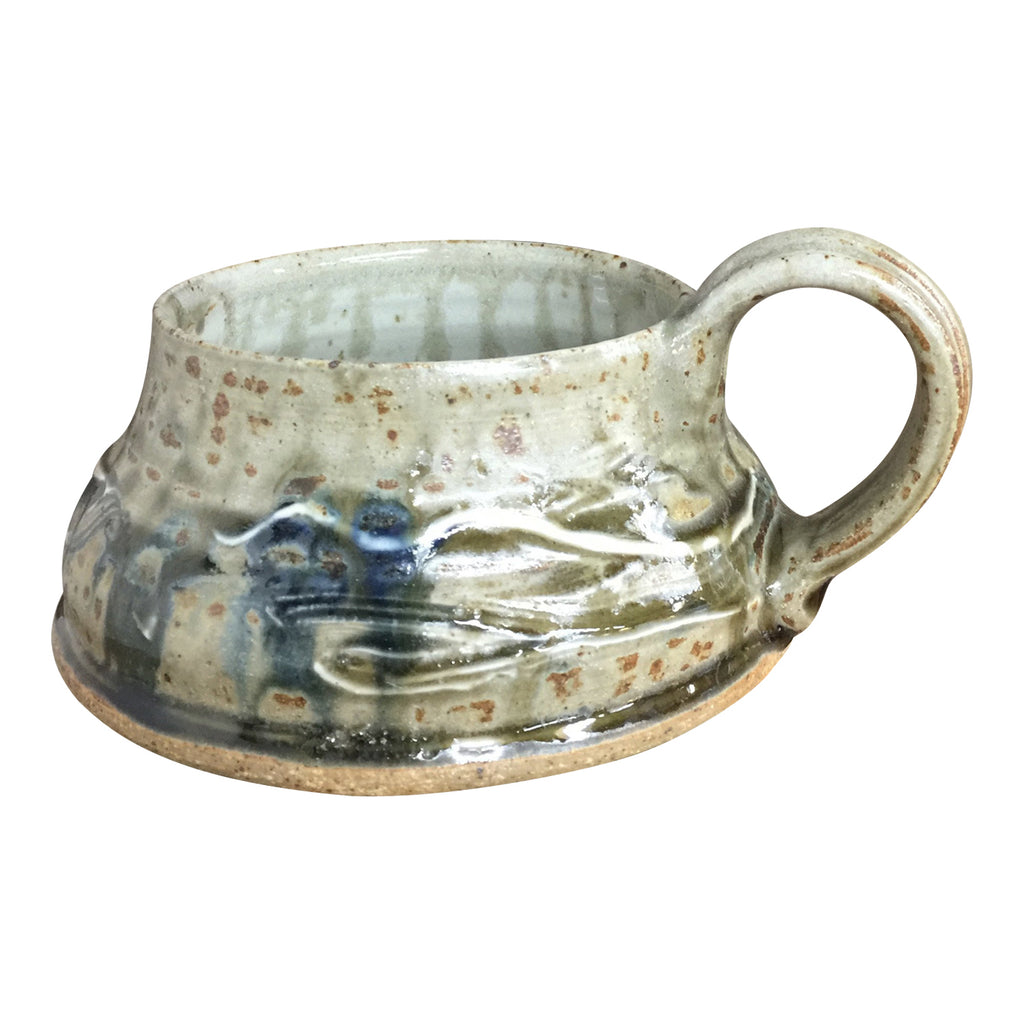 Soup Mug 'Lake Michigan', Soup Mug - Ellison Bay Pottery Studios