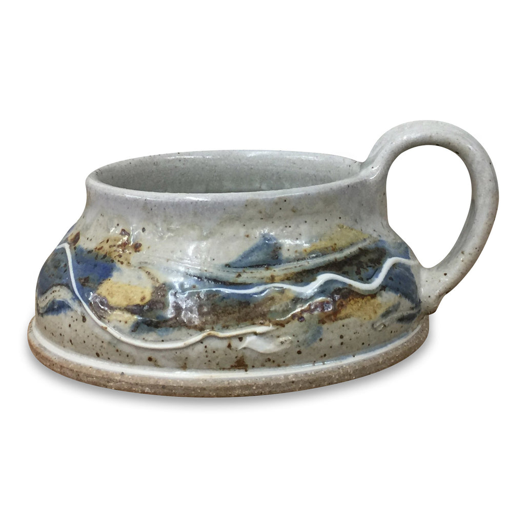Soup Mug-Door County Fall, Soup Mug - Ellison Bay Pottery Studios