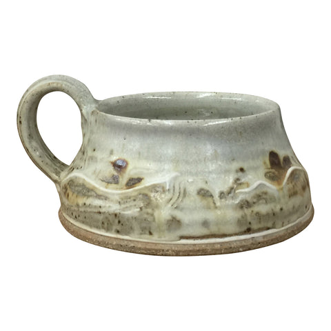 Soup Mug-Door County Beaches, Soup Mug - Ellison Bay Pottery Studios