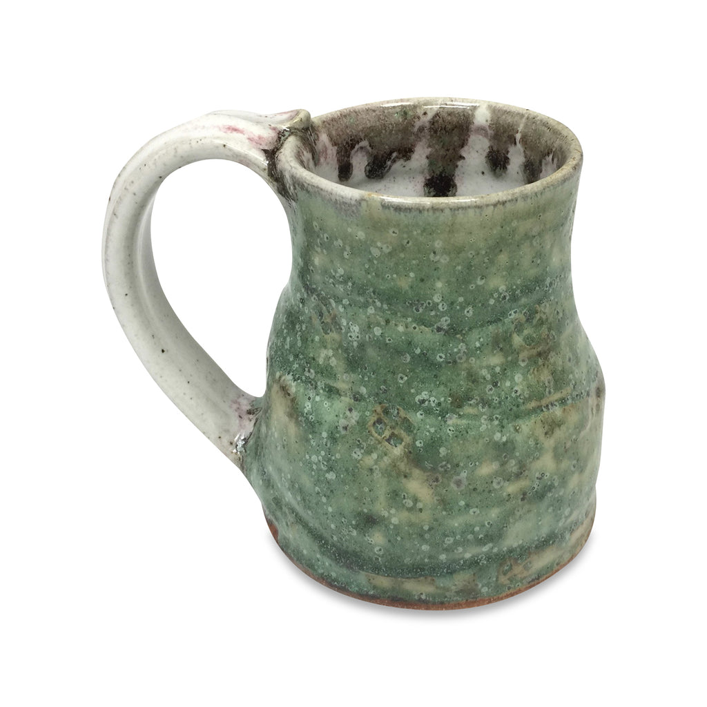 Handmade Pottery Travel Mug- Spring Green