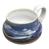 Handmade Pottery Soup Mug: Door County Blue Sky
