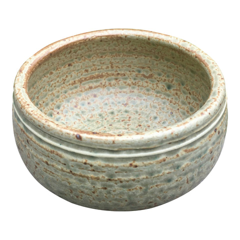 Handmade Pottery Cereal Bowl: Green Rivers