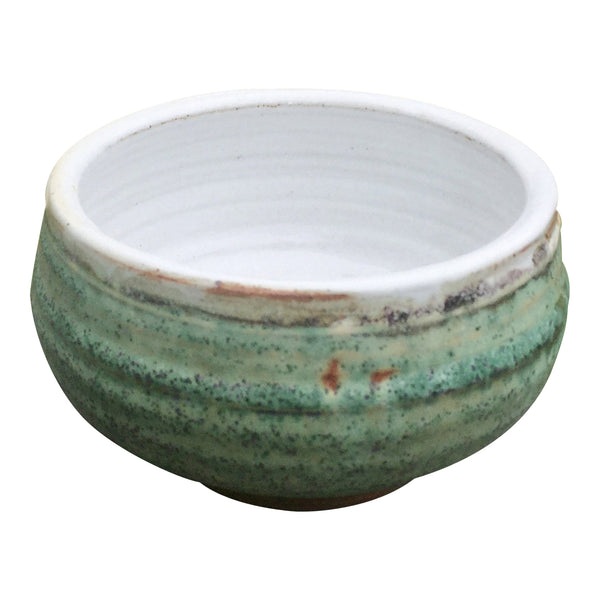 Handmade Pottery Turquoise Green Cereal Bowl